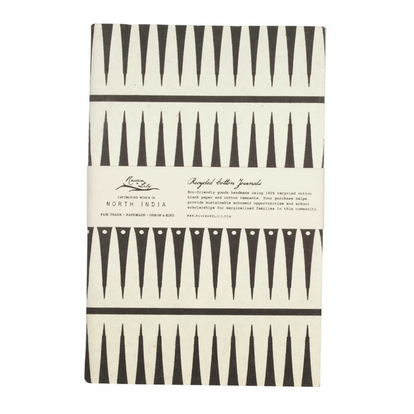 Uzma Recycled Cotton Journal Tribal Print
