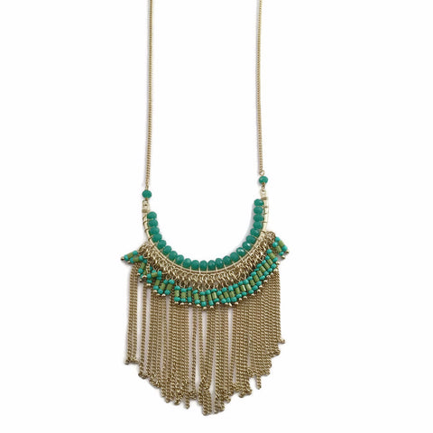Waterfall Beaded Necklace