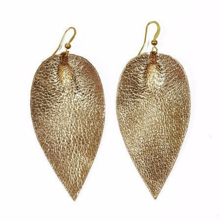 Zia Leaf Earrings Gold