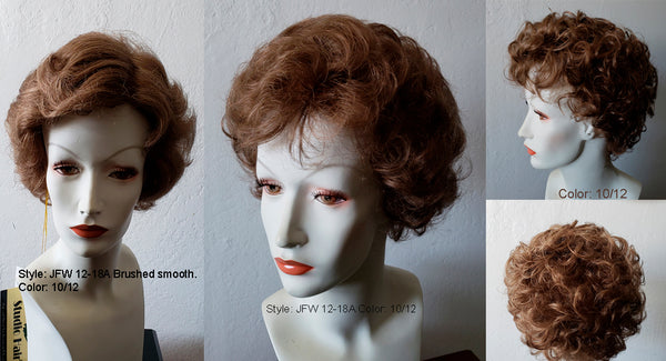RX JFW12-18A 100% Hand-Tied Prosthetic Wig