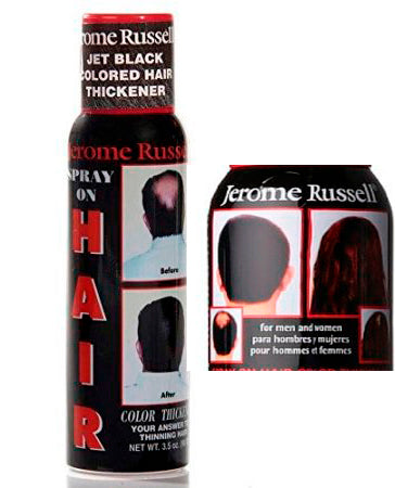 Spray on Hair Color by Jerome Russell - Clearance  Available to order on-line only.