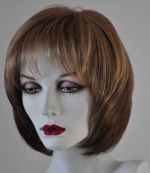 RX New VAL 100% hand tied with Synthetic Fiber Prosthetic Wig