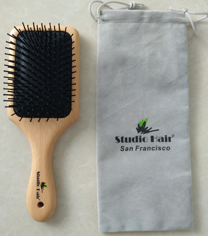 Studio Hair® Solid Beech Wood Therapeutic Professional Brush
