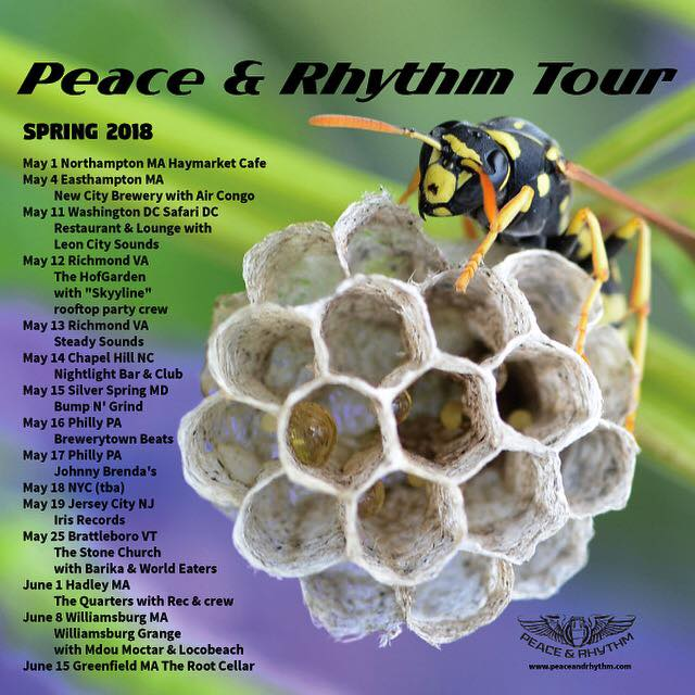Peace & Rhythm Spring 2018 Tour Continues!