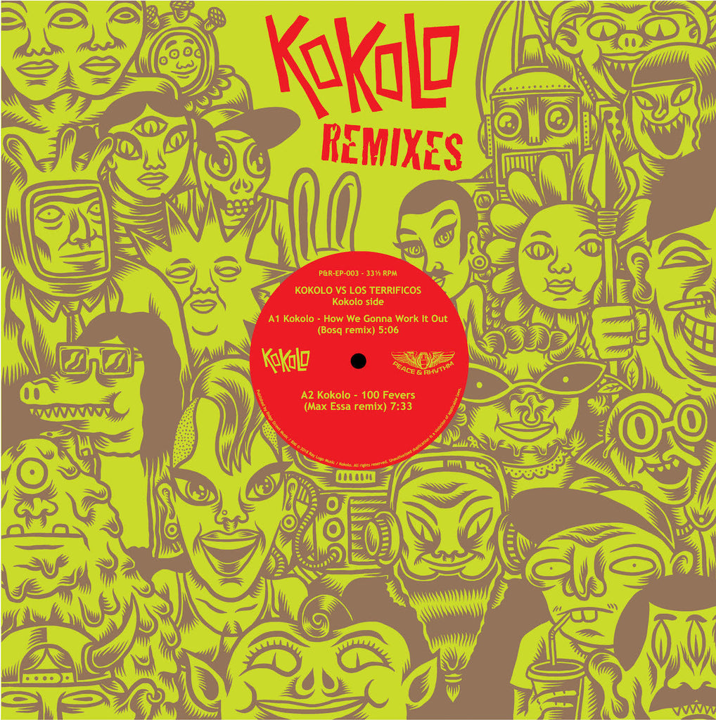 "Latest from Peace & Rhythm: Kokolo VS. Los Terrificos Remixes 12"" EP"