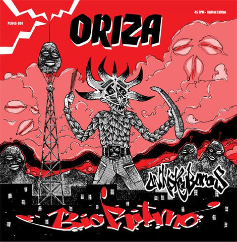 "Bio Ritmo - Oriza/Oriza (Whiskey Barons remix) - 7"" (limited edition red vinyl)"