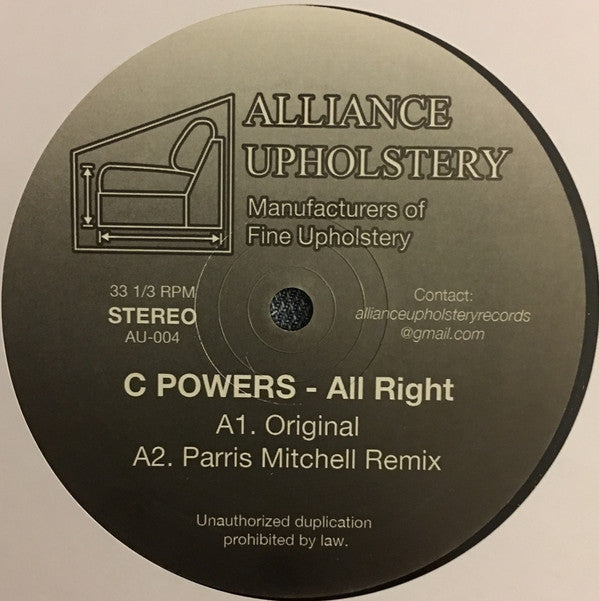 C-Powers - All Right - 12""