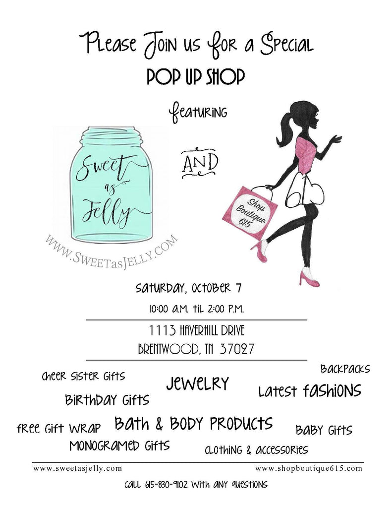 Join us for our first ever Pop-Up Shop!