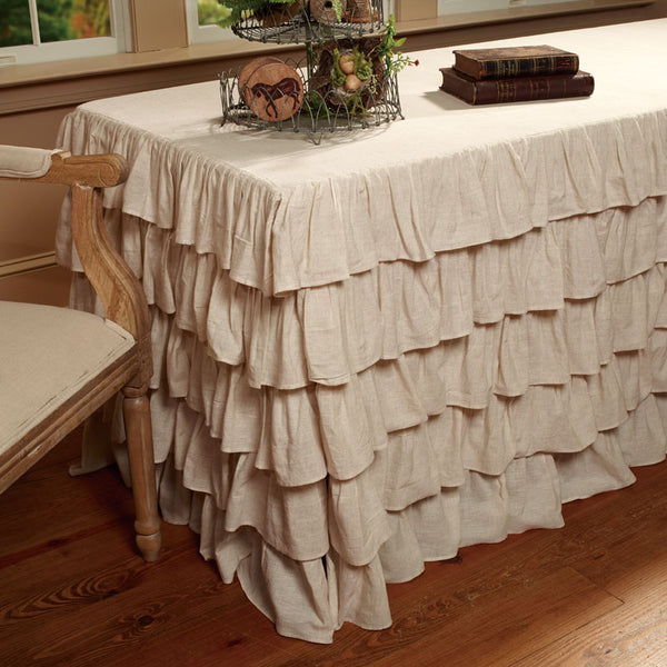 "Ruffled Tablecloth 6' x 30"" - Sweet as Jelly"