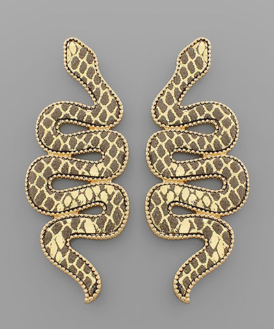 Printed snake earrings - Sweet as Jelly