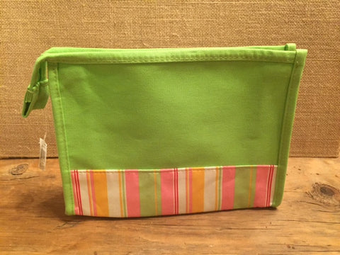 Lime/Multi-Sripe Make-Up Bag - Sweet as Jelly