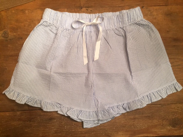 Seersucker Pajama Shorts - Sweet as Jelly