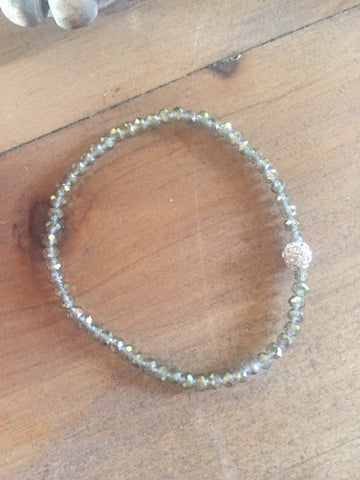 Dainty Green Crystal Stretch Bracelet - Sweet as Jelly
