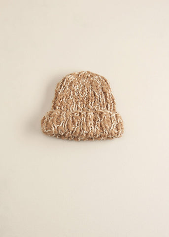 Two Toned Mango Yarn Hat - Toboggan in Taupe - Sweet as Jelly