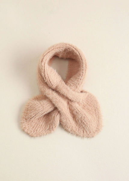 Solid Eyelash Keyhole Scarf - Sweet as Jelly
