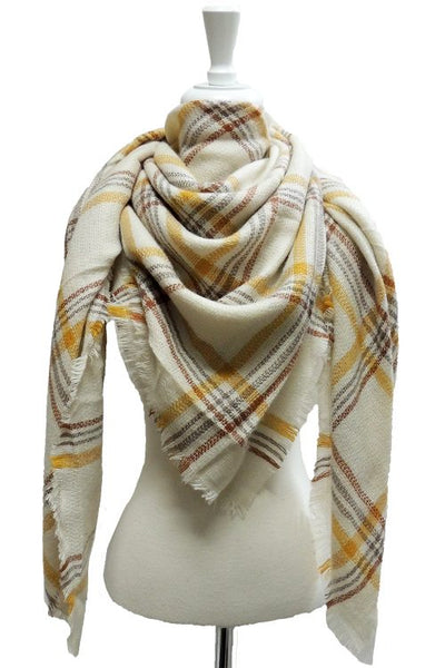 Yellow & Grey Blanket Scarf - Sweet as Jelly