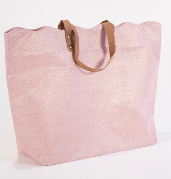 Shimmer scallop tote in rose gold - Sweet as Jelly
