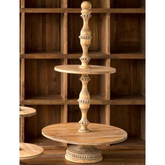 Grand Wooden Two-Tier Boutique Stand