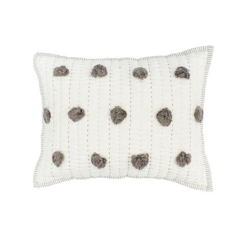 Pom Pom Pillow in Charcoal - Sweet as Jelly