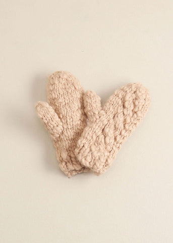 Blush Striped Knit Mittens Gloves - Sweet as Jelly