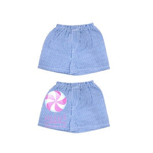 Navy Seersucker Toddler Shorts - Sweet as Jelly