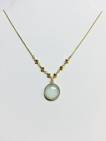 Gold Pyrite Acqua Necklace - Sweet as Jelly