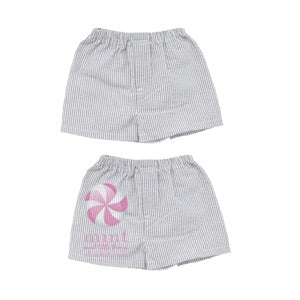 Gray Seersucker Toddler Shorts - Sweet as Jelly