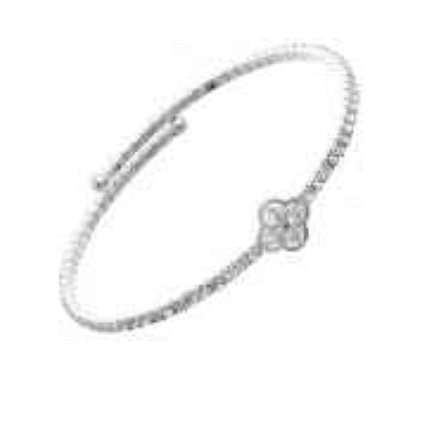 Dainty Silver Rhinestone Cuff Bracelet - Sweet as Jelly