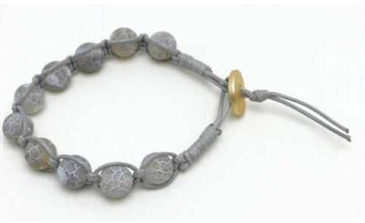 Grey Natural Stone Toggle Bracelet - Sweet as Jelly