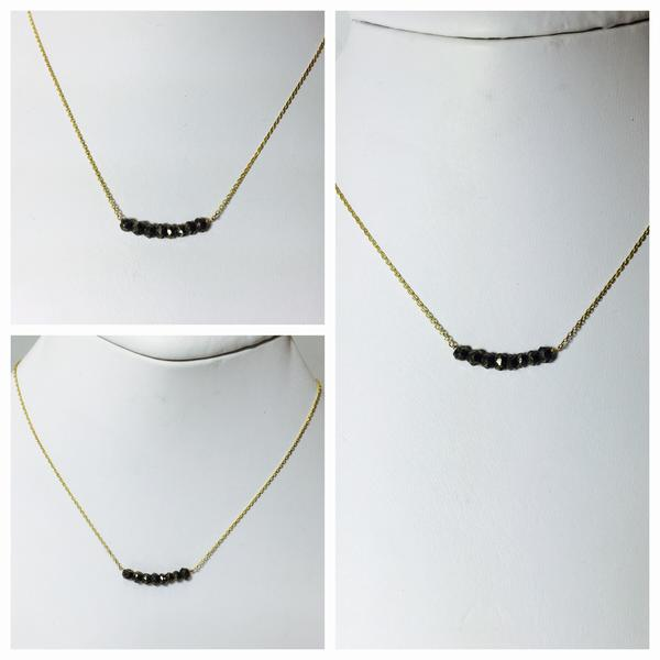Pyrite Bar Necklace - Sweet as Jelly