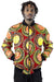 African Bomber Jacket - Red/Yellow Concentric Print - Africas Closet