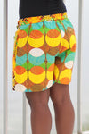 African Print/Kitenge  Beach Shorts-Duo Prints(Yellow/Green Print) - Africas Closet