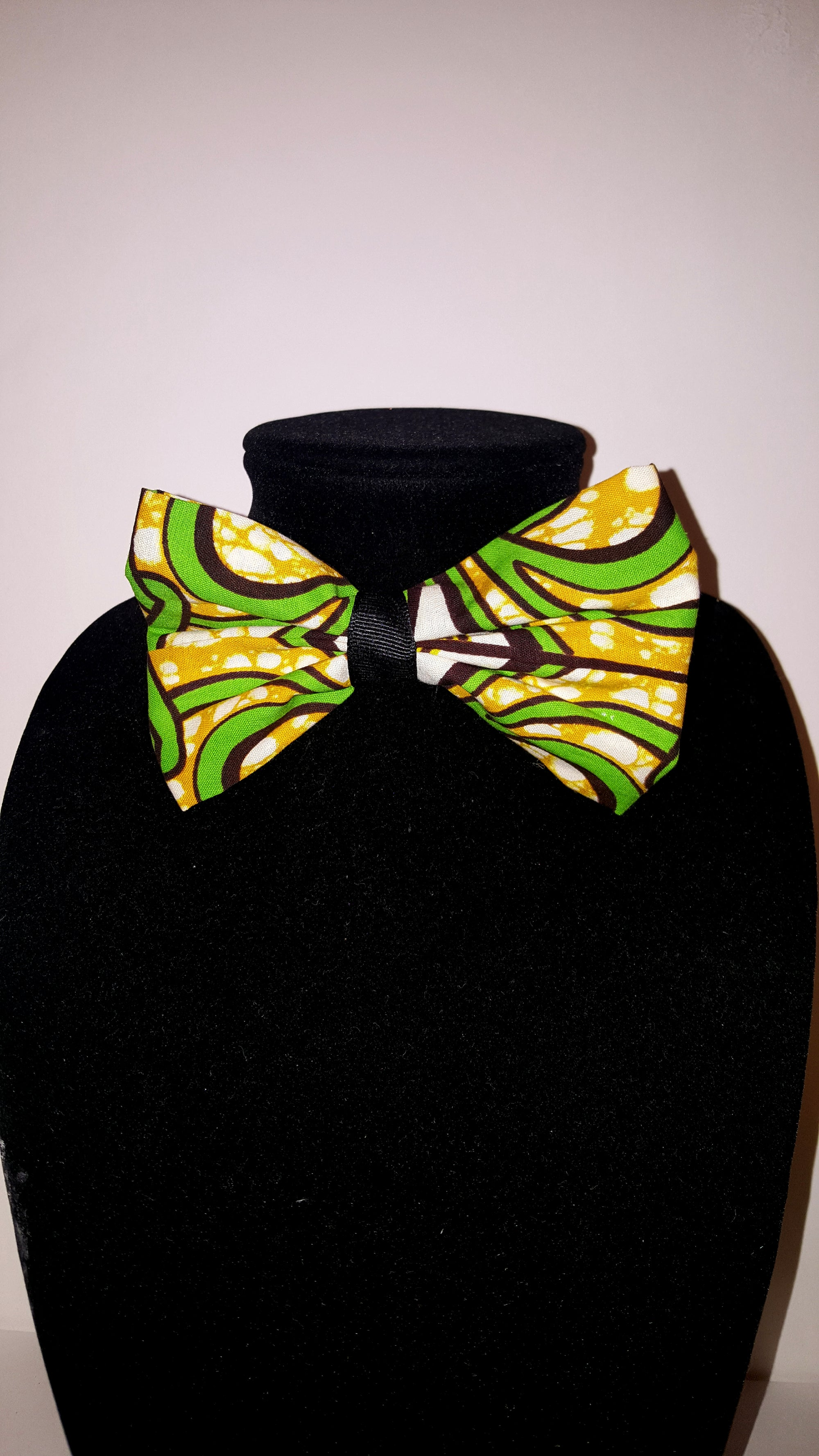 African Bow Tie-Lime Green Tribal Print - Africas Closet