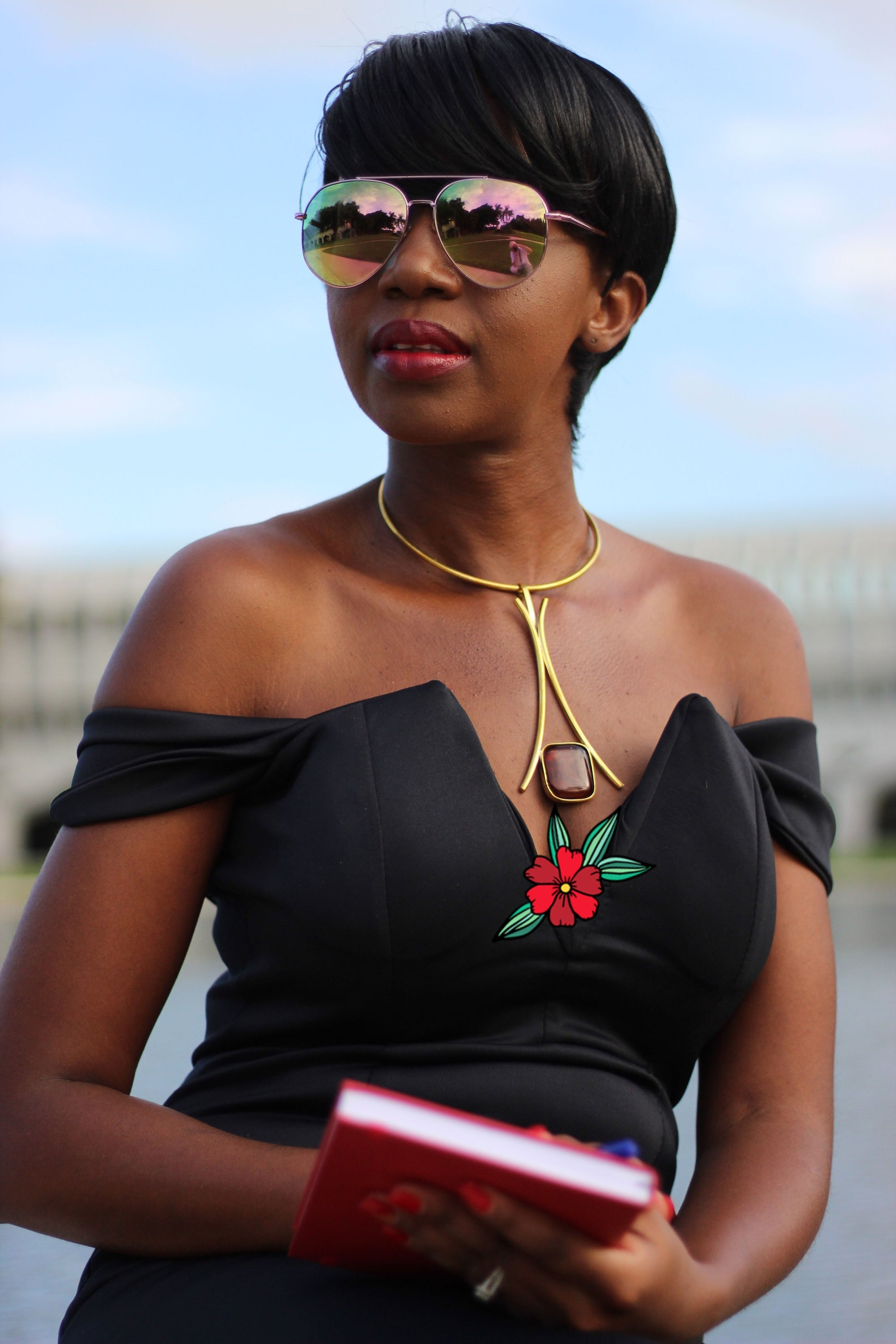 African Custom Brass Statement Necklace - Chozi - Africas Closet