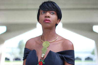 African Custom Brass Statement Necklace - Juli - Africas Closet