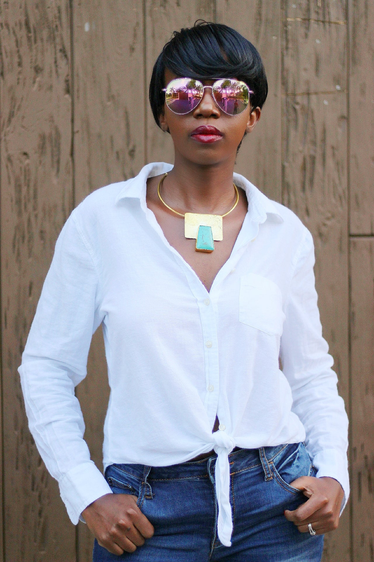 African Custom Brass Statement Necklace - Mraba - Africas Closet