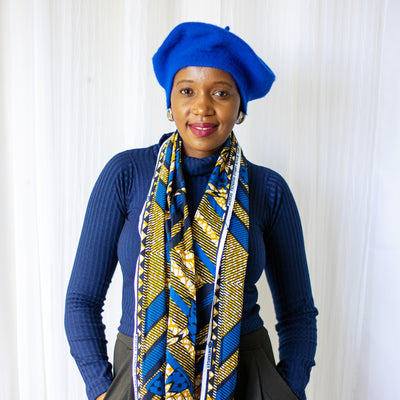 ROYAL BLUE BERET CAP / HAT
