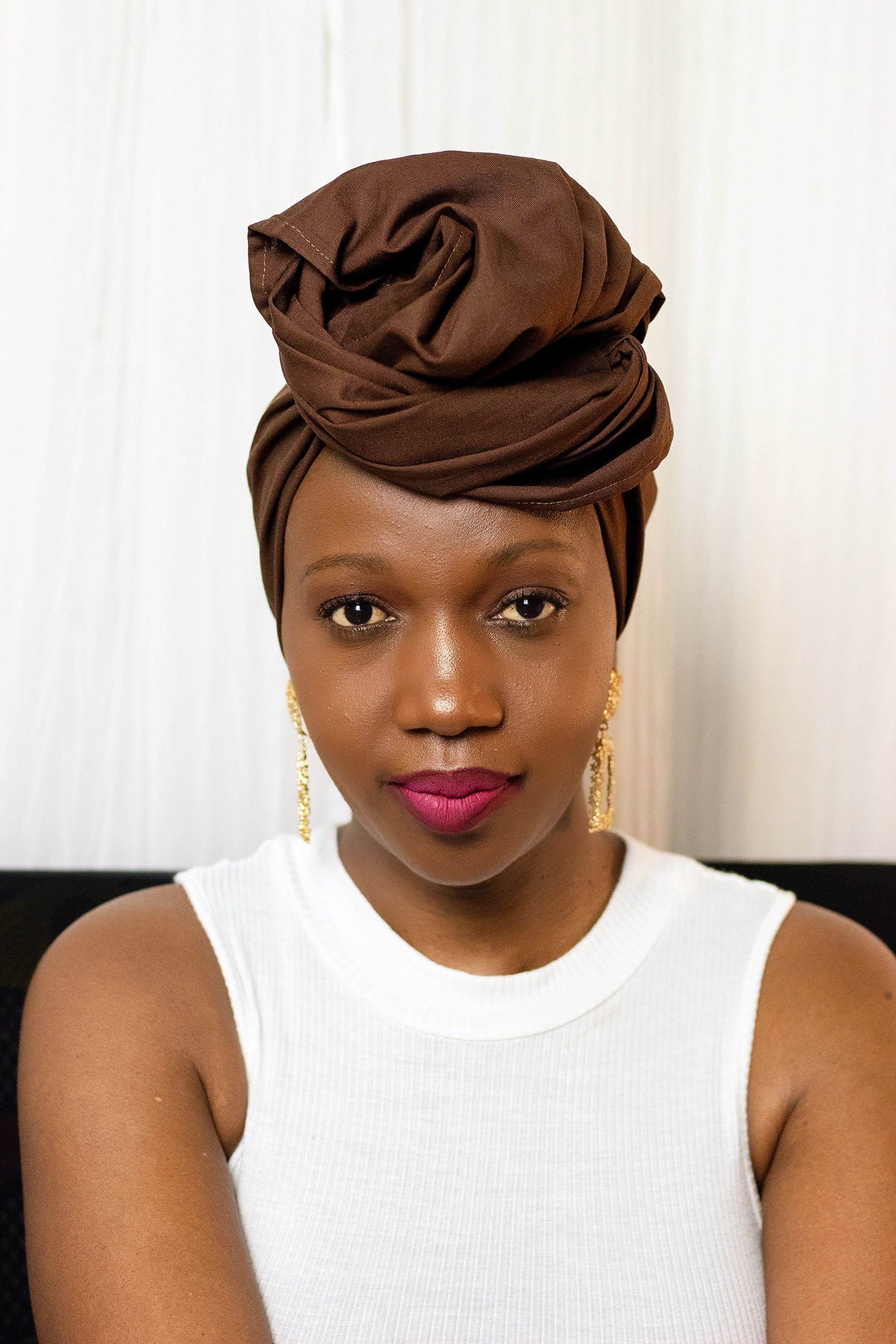 Brown  African Cotton Headwrap