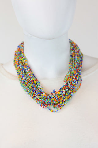 African Maasai Beaded Necklace- Multi Colored