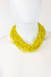 African Maasai Beaded  Necklace-Yellow - Africas Closet