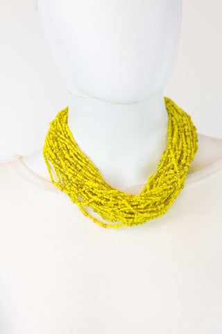 African Maasai Beaded  Necklace-Yellow