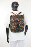 African Print Back Pack-Jungle Green Floral Print - Africas Closet