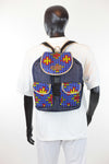 African Print Back Pack-Royal Blue - Africas Closet