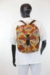 African Print Back Pack-Brown Batik Print - Africas Closet