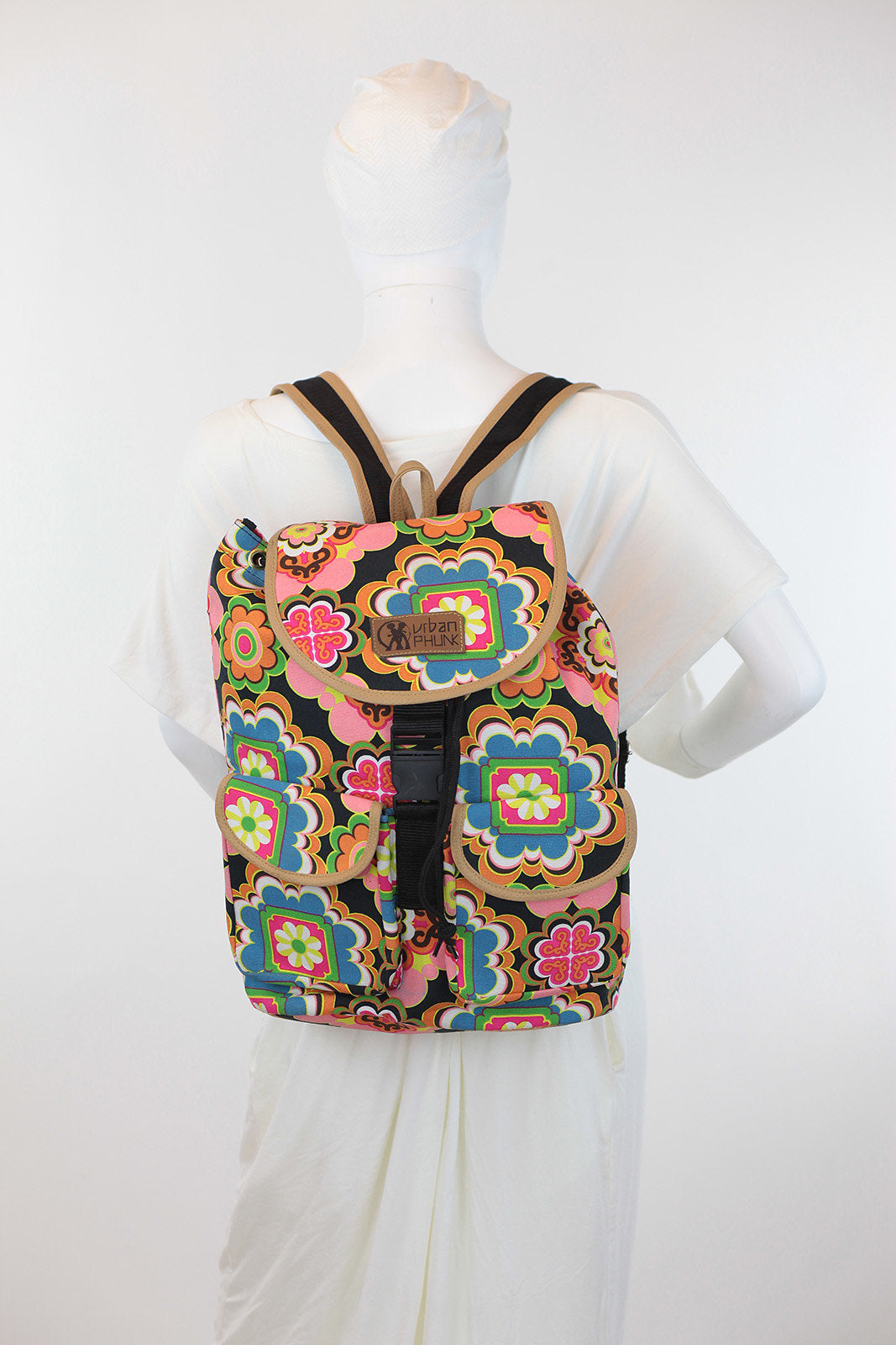 African Print Back Pack-Pink Floral Print - Africas Closet