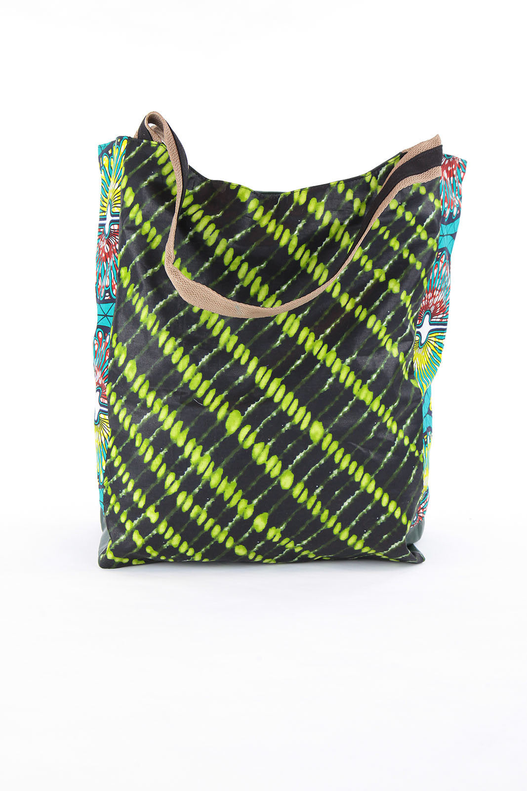 African Print shopper bag-Green Batik Print - Africas Closet