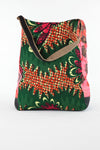 African Print Shopper Bag - Green/Wave/Black Print - Africas Closet
