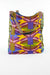 African Print Shopper Bag-Maroon/Purple - Africas Closet