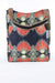 African Print Shopper Bag -Navy Blue/Red Floral Print - Africas Closet