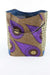 African Print Shopper Bag - Brown/Purple Floral Print - Africas Closet